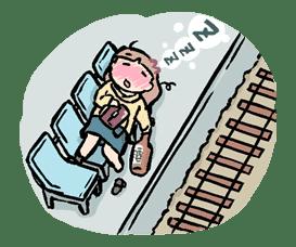 Munchy Girl Mogumi sticker #4493