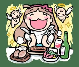 Munchy Girl Mogumi sticker #4499