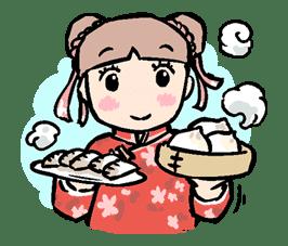 Munchy Girl Mogumi sticker #4512