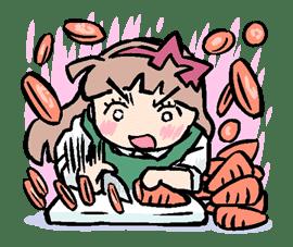 Munchy Girl Mogumi sticker #4515