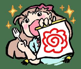 Munchy Girl Mogumi sticker #4516