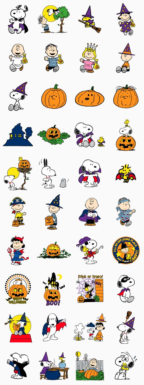 สติ๊กเกอร์ไลน์ Snoopy Halloween