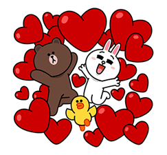 Brown & Cony's Big Love Stickers sticker #11470496