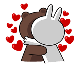 Brown & Cony's Big Love Stickers sticker #11470497