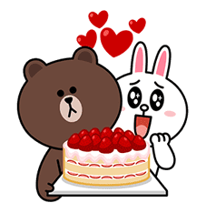 Brown & Cony's Big Love Stickers sticker #11470505