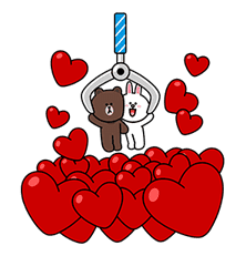 Brown & Cony's Big Love Stickers sticker #11470510