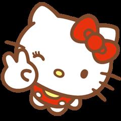 Hello Kitty (Happy Days ver.)  ©'76,'13 SANRIO?| elPortale | Sell LINE Sticker, Sell LINE Theme
