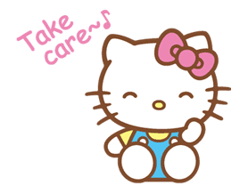 Hello Kitty (Happy Days ver.)  sticker #11903