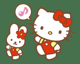 Hello Kitty (Happy Days ver.)  sticker #11904