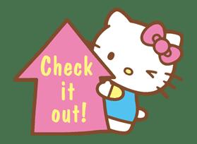 Hello Kitty (Happy Days ver.)  sticker #11908