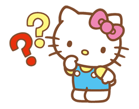 Hello Kitty (Happy Days ver.)  sticker #11910