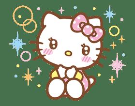 Hello Kitty (Happy Days ver.)  sticker #11916