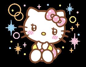 hello kitty happy days ver sticker