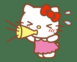 Hello Kitty (Happy Days ver.)  sticker #11928