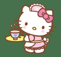 Hello Kitty (Happy Days ver.)  sticker #11929