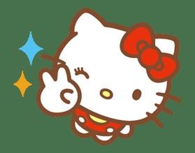 Hello Kitty (Happy Days ver.)  sticker #11931