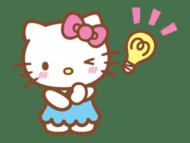 Hello Kitty (Happy Days ver.)  sticker #11933