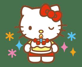 Hello Kitty (Happy Days ver.)  sticker #11936