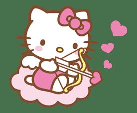 Hello Kitty (Happy Days ver.)  sticker #11938