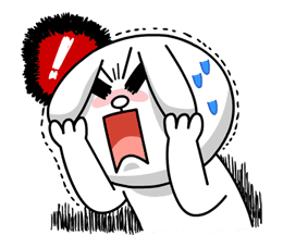 Hoppin' Mad! Angry LINE Characters sticker #20119