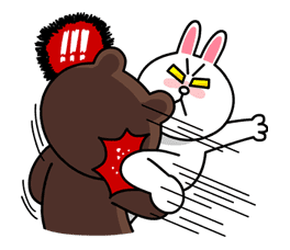 Hoppin' Mad! Angry LINE Characters sticker #20128
