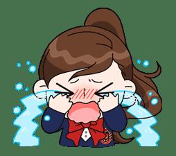 Yuko the Schoolgirl sticker #8002