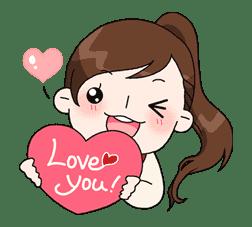 Yuko the Schoolgirl sticker #8007