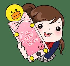 Yuko the Schoolgirl sticker #8008