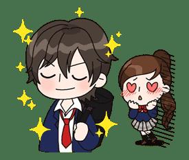 Yuko the Schoolgirl sticker #8014