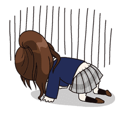 Yuko the Schoolgirl sticker #8018