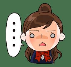 Yuko the Schoolgirl sticker #8019