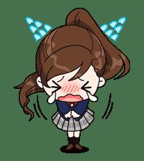 Yuko the Schoolgirl sticker #8020