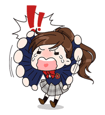 Yuko the Schoolgirl sticker #8021