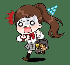 Yuko the Schoolgirl sticker #8022