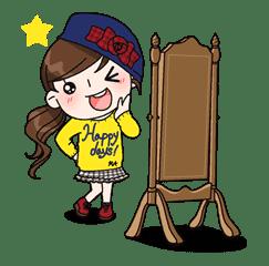 Yuko the Schoolgirl sticker #8023