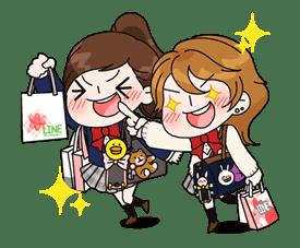 Yuko the Schoolgirl sticker #8024