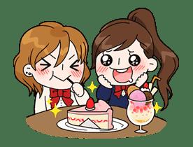 Yuko the Schoolgirl sticker #8025