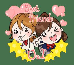 Yuko the Schoolgirl sticker #8027