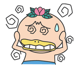 The message of flower blooming HANAKAPPA sticker #8491