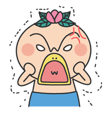 The message of flower blooming HANAKAPPA sticker #8497