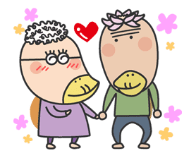 The message of flower blooming HANAKAPPA sticker #8503
