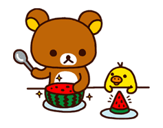 Rilakkuma Summer sticker #15296