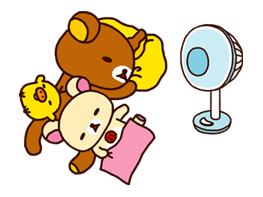 Rilakkuma Summer sticker #15297