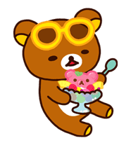 Rilakkuma Summer sticker #15313