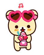 Rilakkuma Summer sticker #15314