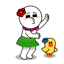LINE Characters - Happy Vacations sticker #532574