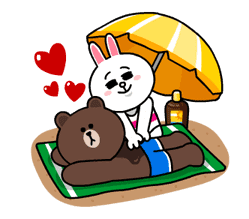 LINE Characters - Happy Vacations sticker #532586