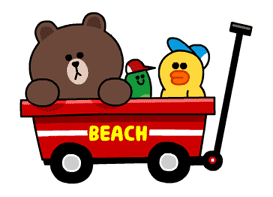 LINE Characters - Happy Vacations sticker #532593