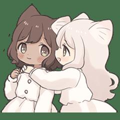 Twin kitten sticker