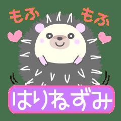 Healed cute hedgehog